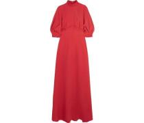 Natasia gathered crepe maxi dress