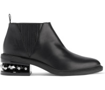 Suzi Studded Leather Ankle Boots