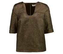 Metallic Jacquard Top Gold