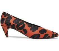 Choc Real Leopard-print Calf Hair Pumps