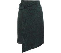 Marina Wrap-effect Twist-front Floral-print Crepe Skirt