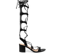Hope Lace-up Leather Sandals Schwarz