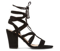Iggy lace-up cutout suede sandals