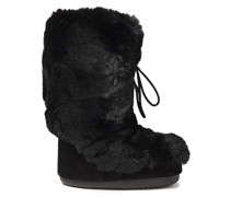 Suede And Faux Fur Snow Boots