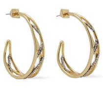 -tone Crystal Hoop Earrings