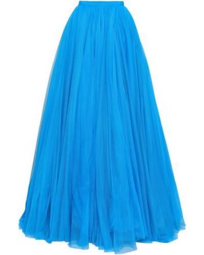 Grosgrain-trimmed Tulle Maxi Skirt Azure Size 12