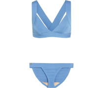 Stretch-bandage Bikini Azurblau