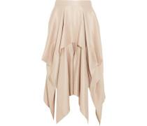 Draped asymmetric silk-crepe skirt