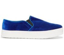 Lacey velvet slip-on sneakers