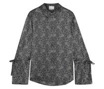 Elisia Bedrucktes Seidenhemd aus Charmeuse