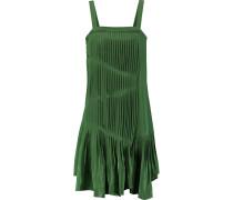 Pleated Silk Dress Grün