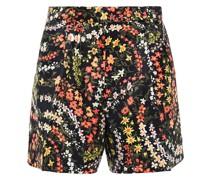 Floral-print Crepe De Chine Shorts