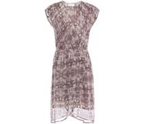 Regan Wrap-effect Printed Georgette Dress