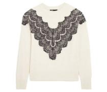 Malto lace-paneled knitted sweater