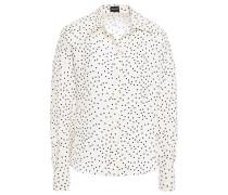 Polka-dot Cotton And Silk-blend Shirt