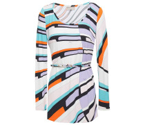 Belted Printed Jersey Top