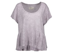 The Girlie Marled Linen And Cotton-blend T-shirt