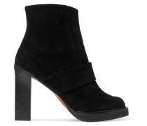 Suede Ankle Boots Schwarz