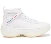 A1 Leather-trimmed Mesh High-top Sneakers