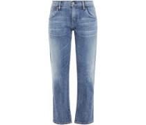Cropped Faded Boyfriend Jeans