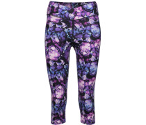 Candace Cropped Printed Stretch-cotton Leggings Lila