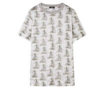 Printed Cotton-gauze T-shirt