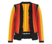 Tassel-trimmed stretch-knit jacket