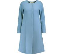 Elodie Flared Wool-blend Coat Hellblau