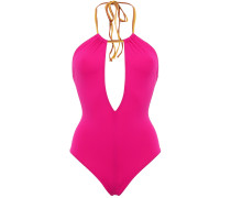 Cutout Halterneck Swimsuit