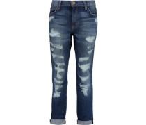 The Fling distressed low-rise boyfriend jeans