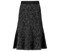 Marvita Stretch Wool-blend Midi Skirt Schwarz