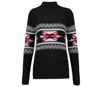 Fair Isle Kniited Sweater Schwarz