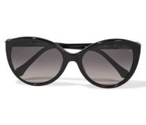 D-frame Acetate Sunglasses Schwarz