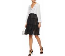 Two-tone layered silk chiffon and lace dress
