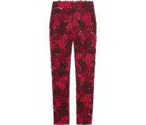Guipure Lace Skinny Pants Rot