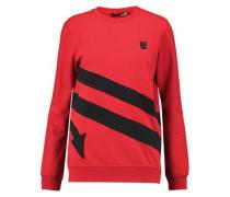 Appliquéd cotton-blend jersey sweatshirt