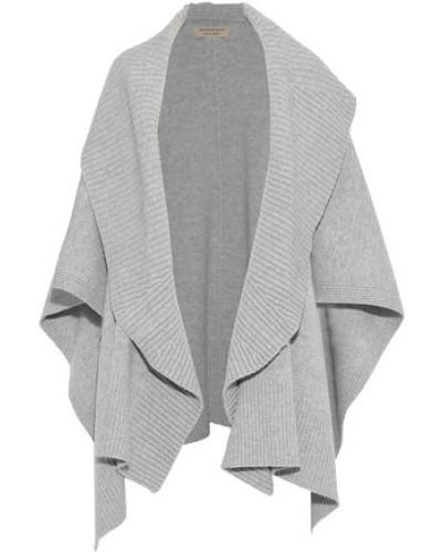 Mélange Wool-blend Cape Gray Size ONESIZE