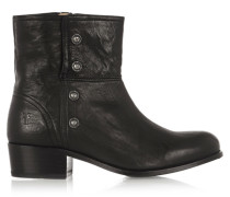 Lynn Military Studded Leather Ankle Boots Schwarz
