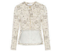 Woven Cotton-blend Jacket Elfenbein