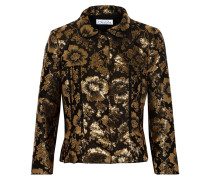 Metallic Jacquard Jacket Gold