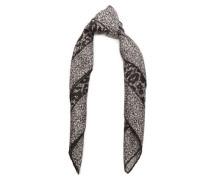 Leopard-print Silk-twill Scarf Black Size --
