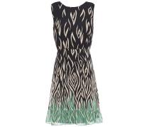 Gathered Printed Silk-chiffon Mini Dress