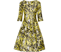 Silk-jacquard Dress Gelb