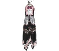 Talia Embellished Crepe Halterneck Midi Dress