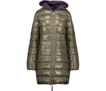 Ace quilted shell hooded down coat