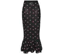 Aidan Sequined Chiffon And Embroidered Point D'esprit Midi Skirt