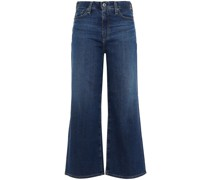 Hoch Sitzende Cropped Jeans mit Weitem Bein