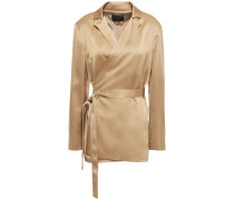 Constance Satin Wrap Jacket