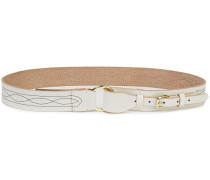Ligo Embroidered Leather Belt