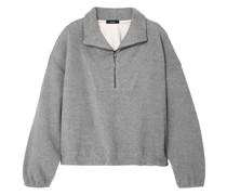Oversized-sweatshirt aus Baumwollfleece